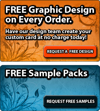 Custom Plastic Gift Card Printing with FREE Graphic Design