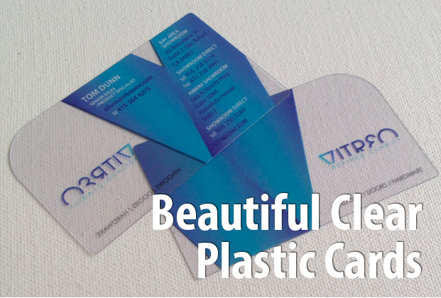Clear plastic cards clear pvc cards clear business cards plus clear plastic cards includes special protective overlay to guard against scratching 30mil is credit card thickness all printing includes full color on reheart