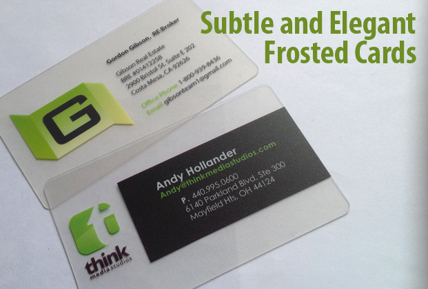 frosted plastic cards - Custom Plastic Cards
